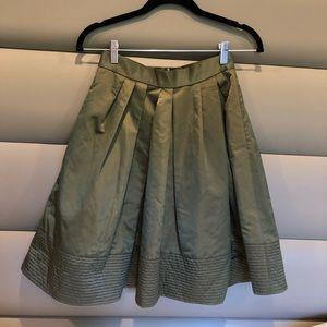 Khaki Banana Republic Flare Skirt